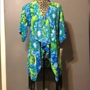 LuLaroe Tie Dye kimono